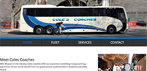 Web Design Warrnambool - Coles Coaches